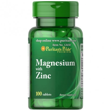 Magnez + Cynk 100 tabletek Puritan's Pride